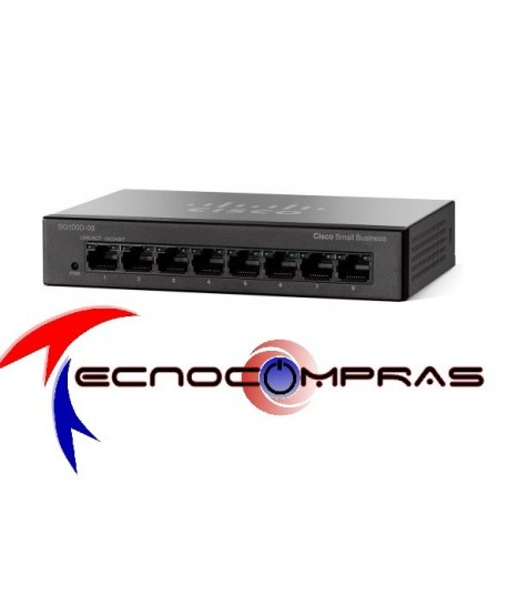 Switch 10/100 NO ADMINISTRABLE CISCO SMALL BUSINESS SF110D-08-NA SF110D-08 8-Port 10/100 Desktop Switch