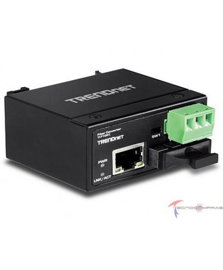 Switches Poe TRENDNET TI-F10SC Hardened Industrial 100Base-FX Multi-mode SC Fiber Converter 2KM